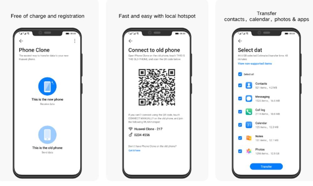 Huawei Phone Clone transfiere archivos entre celulares fácilmente