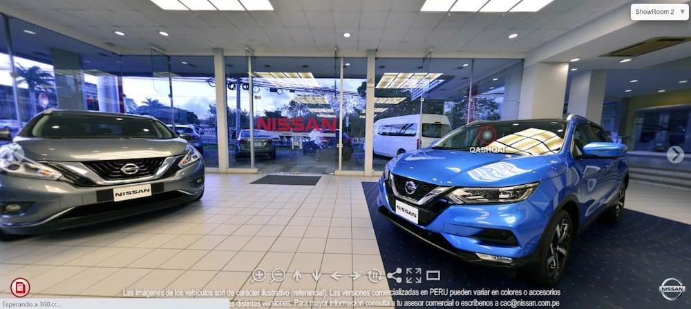 Nissan presenta nuevo showroom virtual