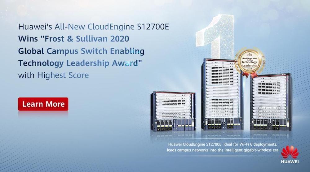 CloudEngine de Huawei recibe premio al liderazgo tecnológico