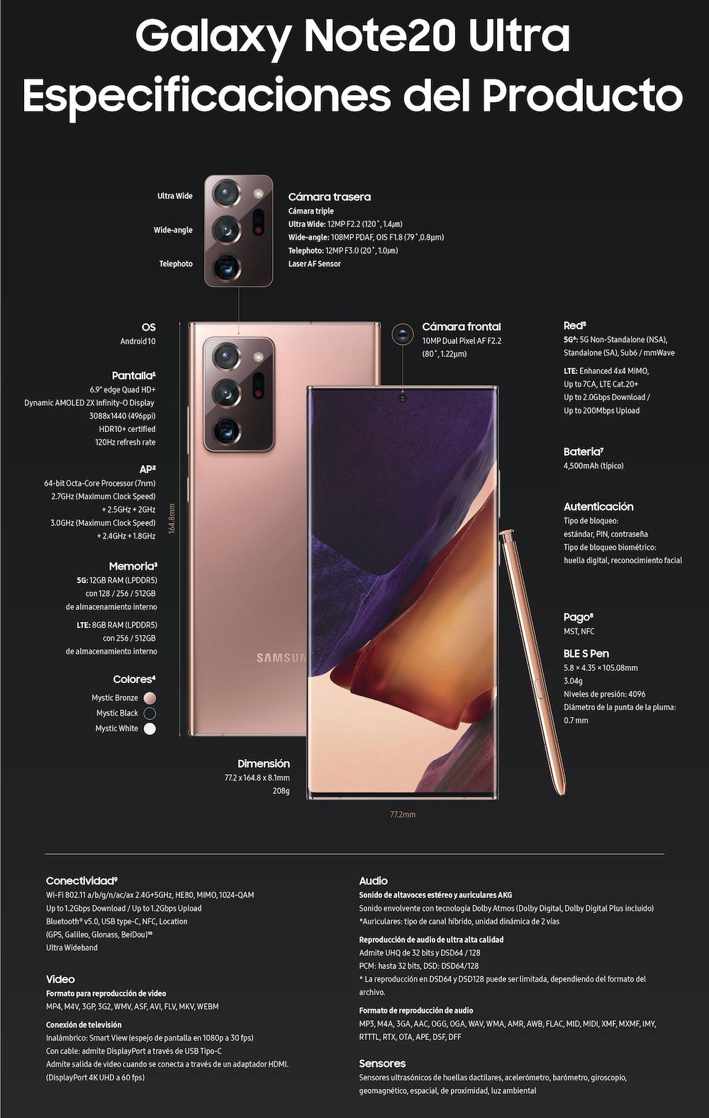 Conoce los detalles de los nuevos Galaxy Note20 y Note20 Ultra