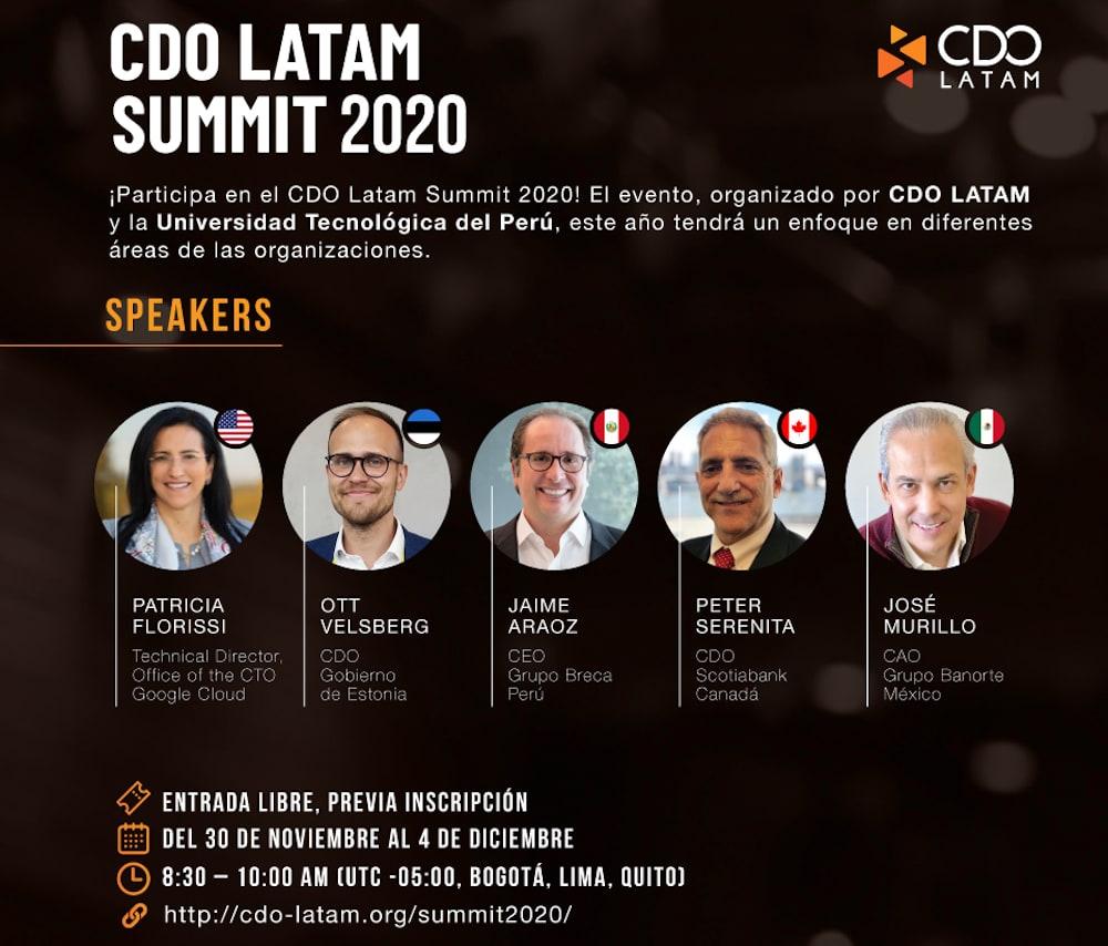 CDO Latam Summit 2020 y la gestión estratégica de datos