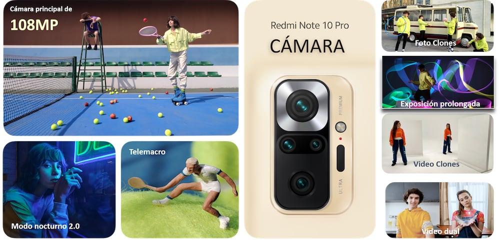 Opciones creativas del Redmi Note 10 Pro para redes sociales