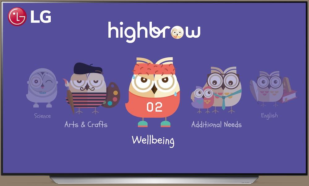 LG y Highbrow ofrecen contenido de TV educativo de calidad