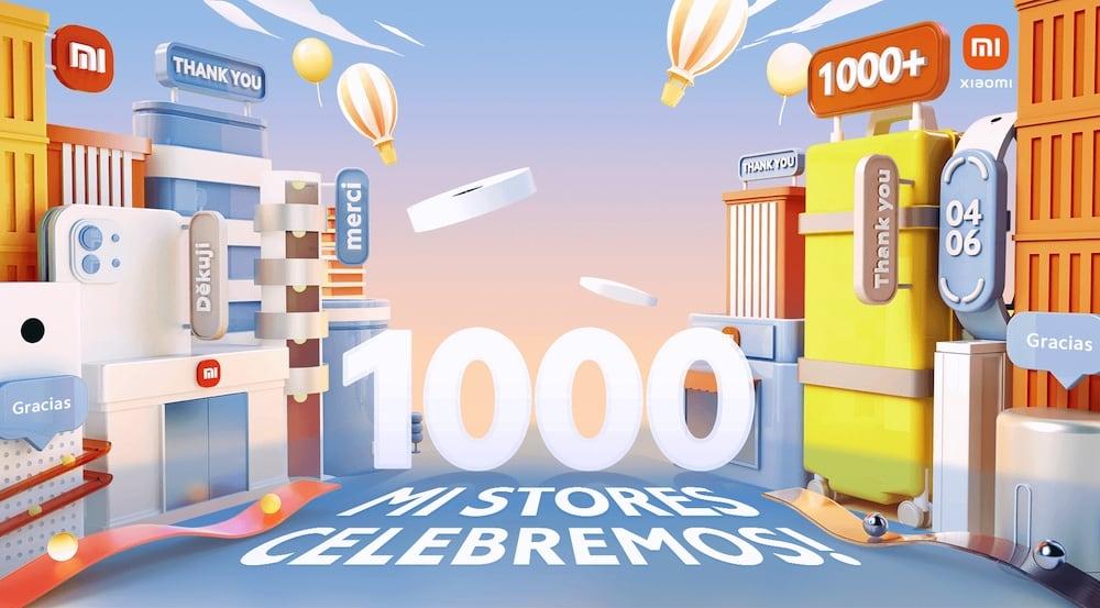 Xiaomi cuenta con 1000 tiendas físicas en todo el mundo