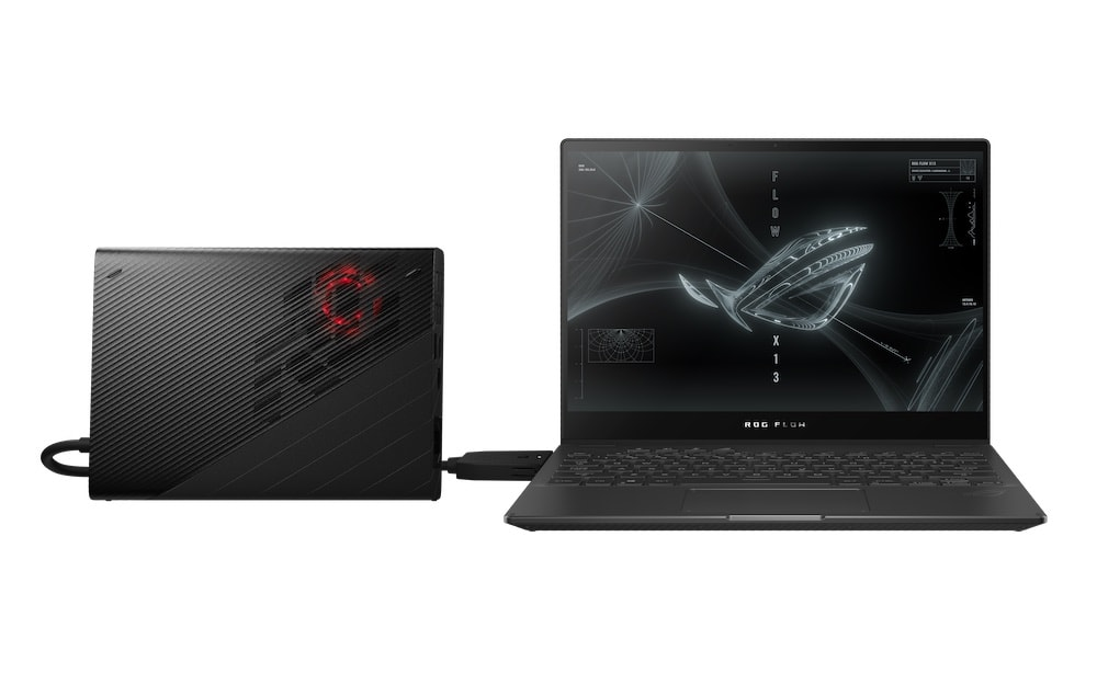 Laptop gamer convertible Flow X13 y GPU externa XG Mobile
