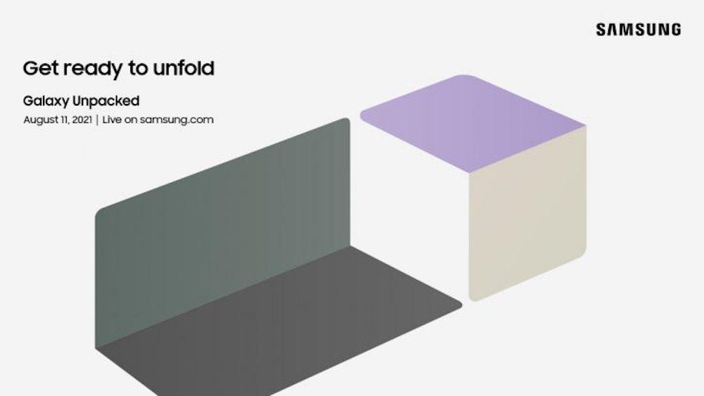Invitación al Galaxy Unpacked: Get ready to unfold