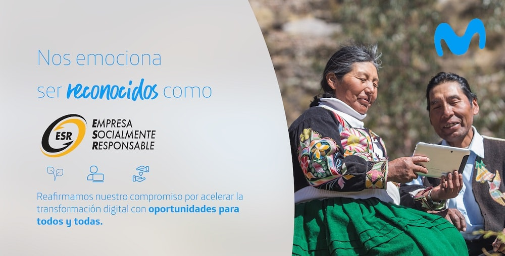 """Movistar es reconocida como """"Empresa Socialmente Responsable"""""""