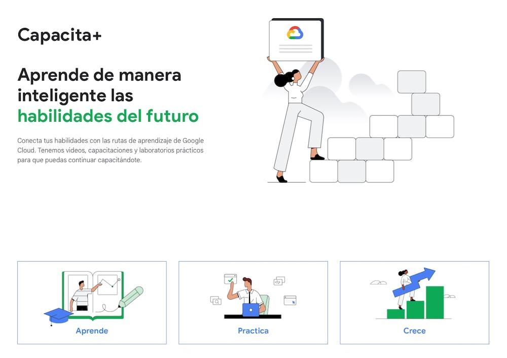Capacita Más: Recursos y capacitaciones gratuitas de Google Cloud