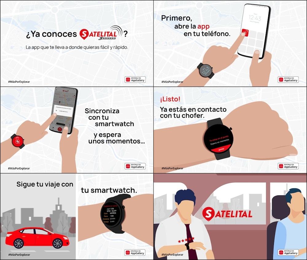 App de Satelital se lanza para el nuevo HUAWEI Watch 3