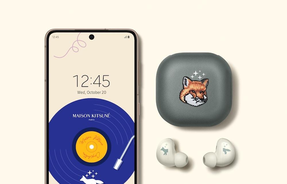 Samsung Galaxy Watch4 y Buds2 con Maison Kitsuné