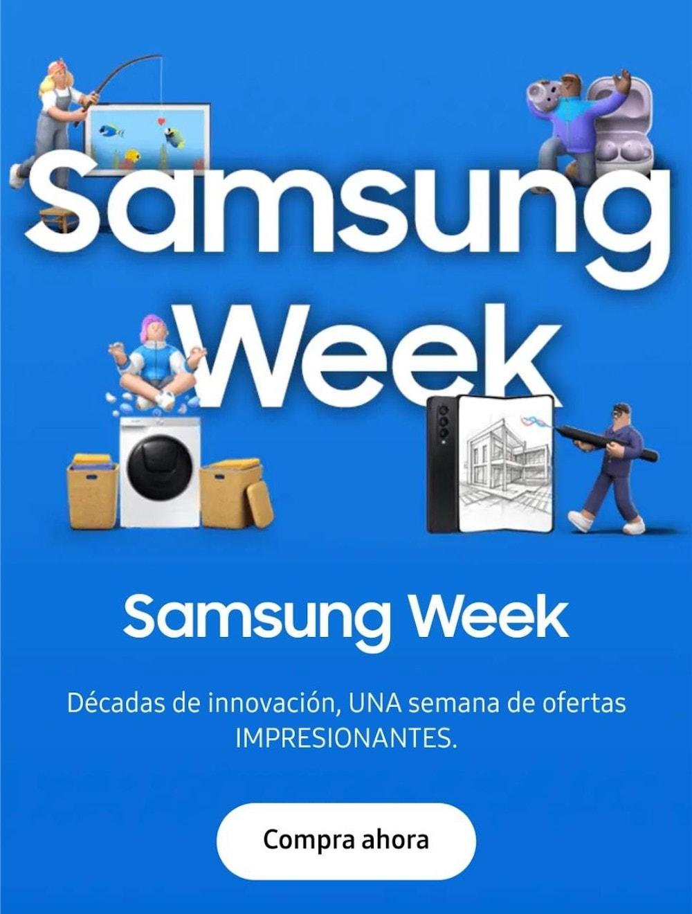 Samsung Week: Increíbles descuentos en tus equipos favoritos